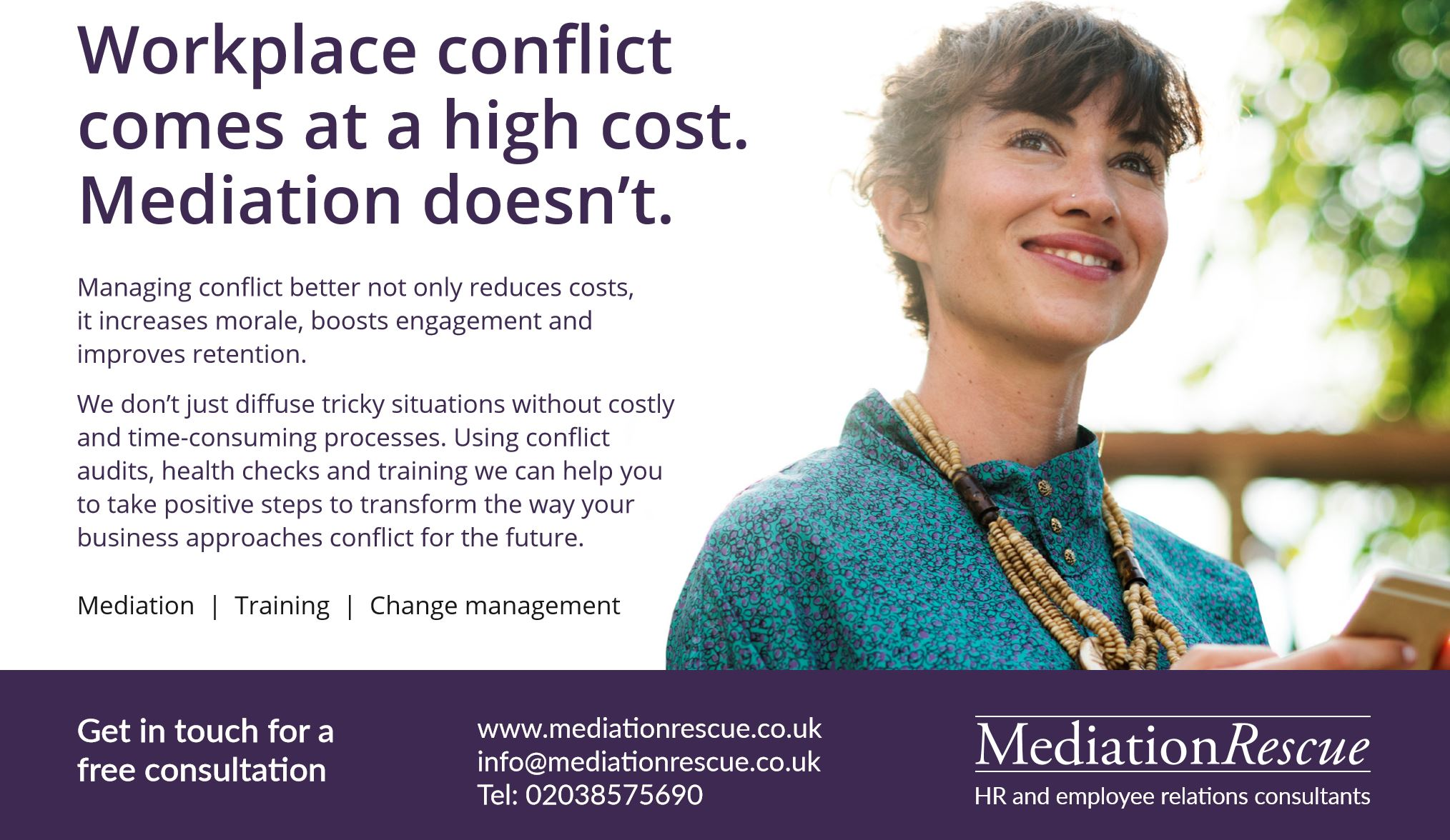 Mediation Rescue Ad - The Workplace Mediation People